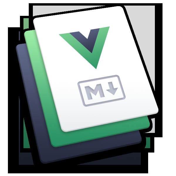 The VuePress logo.